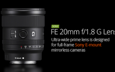 The New Sony FE 20 f/1.8 G Lens